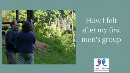 My first experience of a men's group